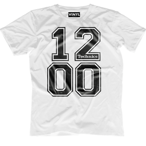 DJ Tech 1200 T-Shirt (White) - Vinyl Clothing Co - DJ Apparel Clothing Disc Jockey Vinyl Gear