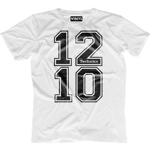 DJ Tech 1210 T-Shirt (White) - Vinyl Clothing Co - DJ Apparel Clothing Disc Jockey Vinyl Gear