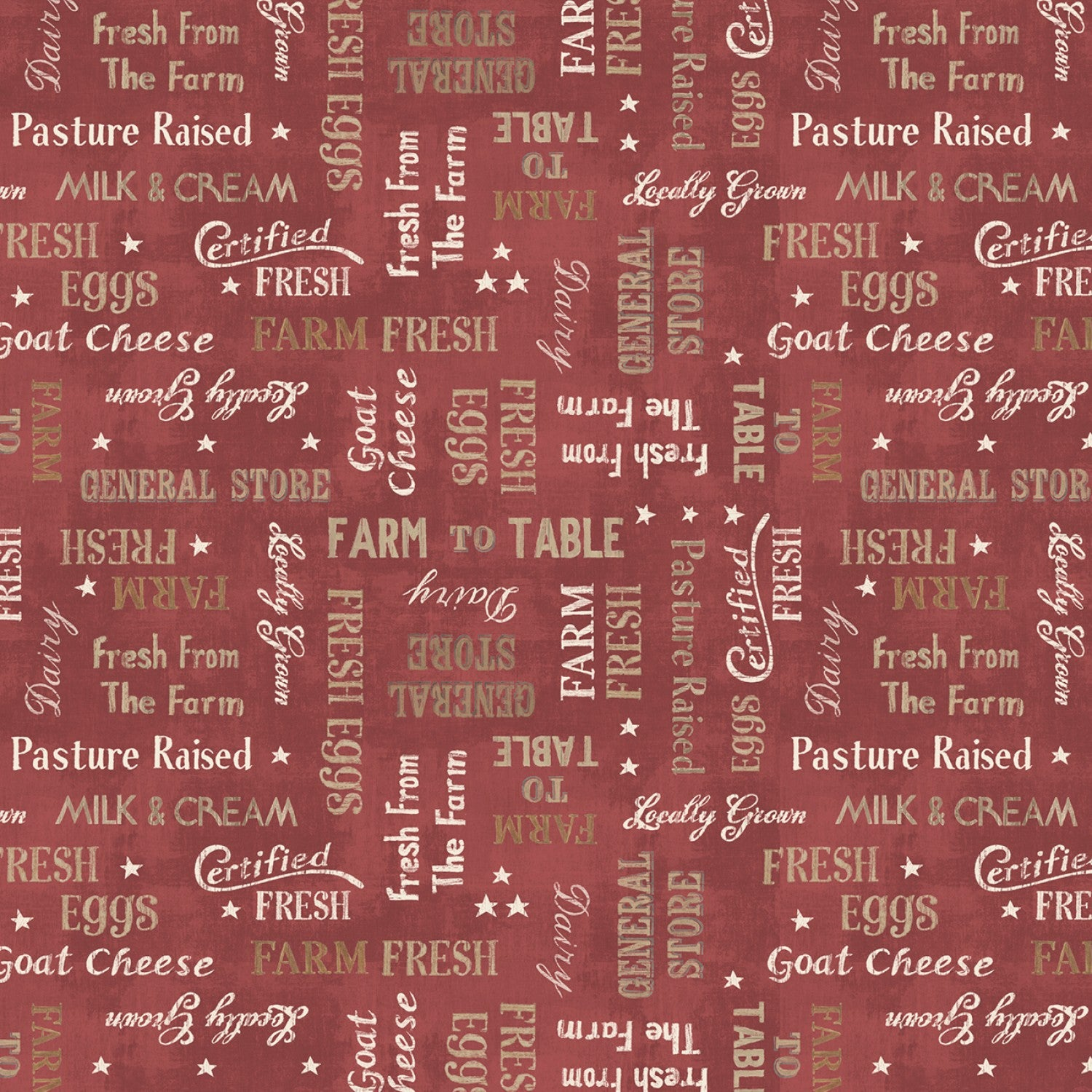 WORDS - BARN RED - FARM HOUSE CHIC