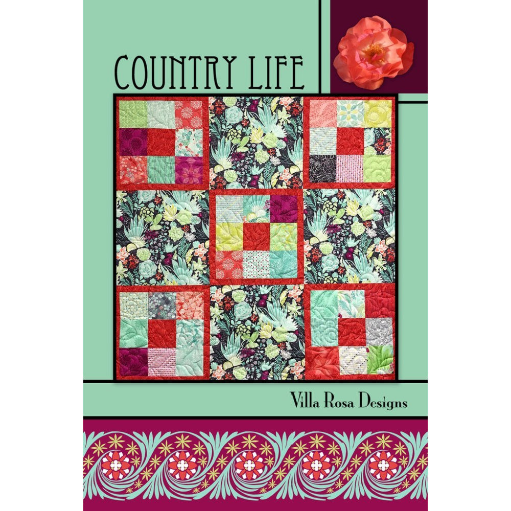 VILLA ROSA COUNTRY LIFE QUILT PATTERN