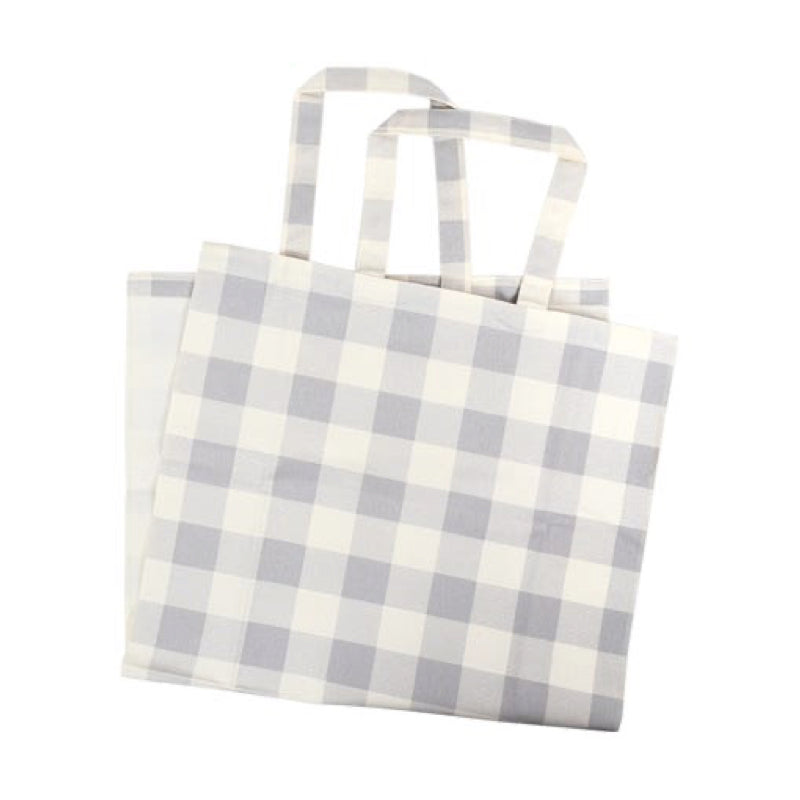 BUFFALO CHECK TOTE GREY
