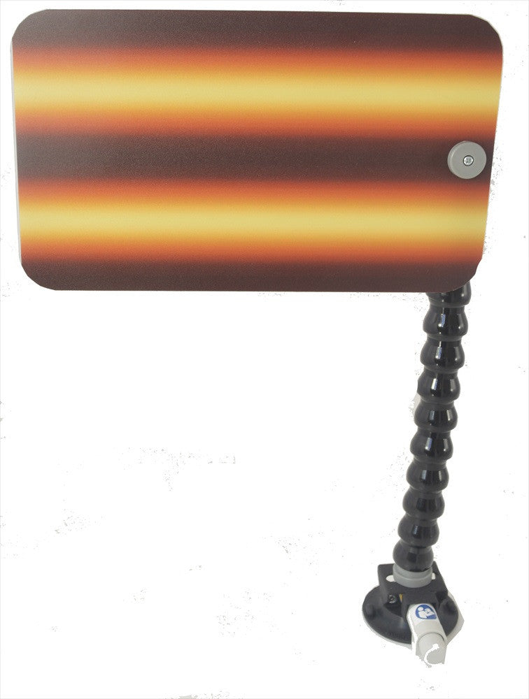 "12"" Amber Fire Reflector Board with Loc-Line and Suction Cup (AFB-12-SC)"