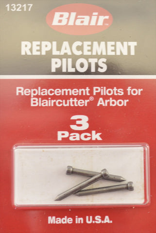Pack of 3 Pilot Pins for Blair Cutter Kit (Made in USA)