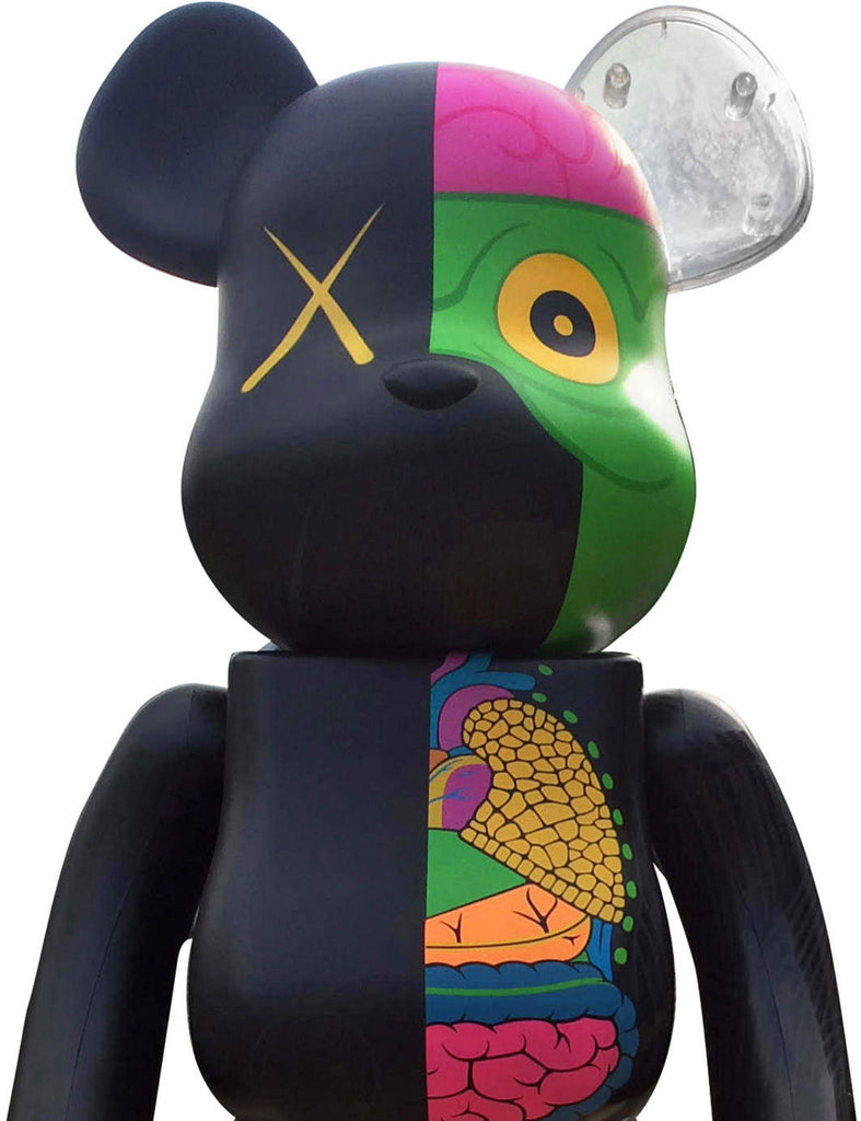 400% Bearbrick Dissected (Noir)