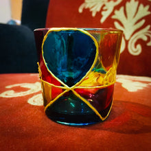 Rangoli 3 Tea Light Glass Candle Holder 2.5 x 2.5 Inches - Ankansala