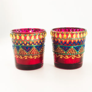 Rose Aroma Scented Soy Candles | Set Of 2 - Ankansala