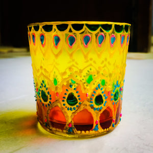 Haveli Tea Light Glass Candle Holder 2 x 2.5 Inches - Ankansala
