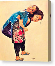 Two Sisters- Fine Art Canvas Print- Wall Art - Ankansala