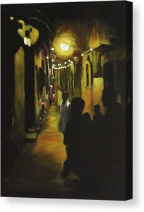 Night Lights-  Fine Art Canvas Print- Wall Art - Ankansala