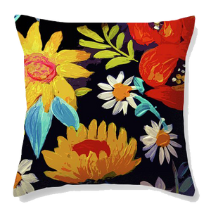 Floral Beauty Velvet Cushion Cover - Ankansala
