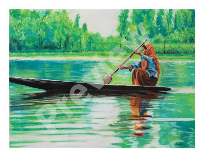 Boat Ride- Fine Art Canvas Print- Wall Art - Ankansala