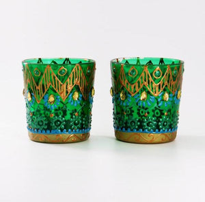Royal Tea Light Glass Candle Holder | Set of 2 - Ankansala