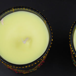 Jasmine Handmade Scented Soy Candle-A | Set of 2 - Ankansala