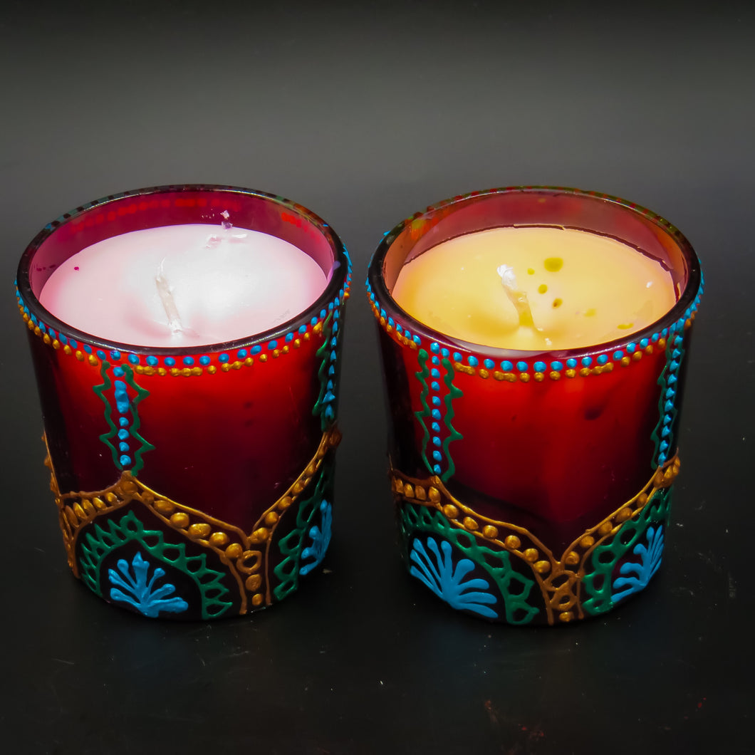 Rose Handmade Scented Soy Candle-B | Set of 2 - Ankansala