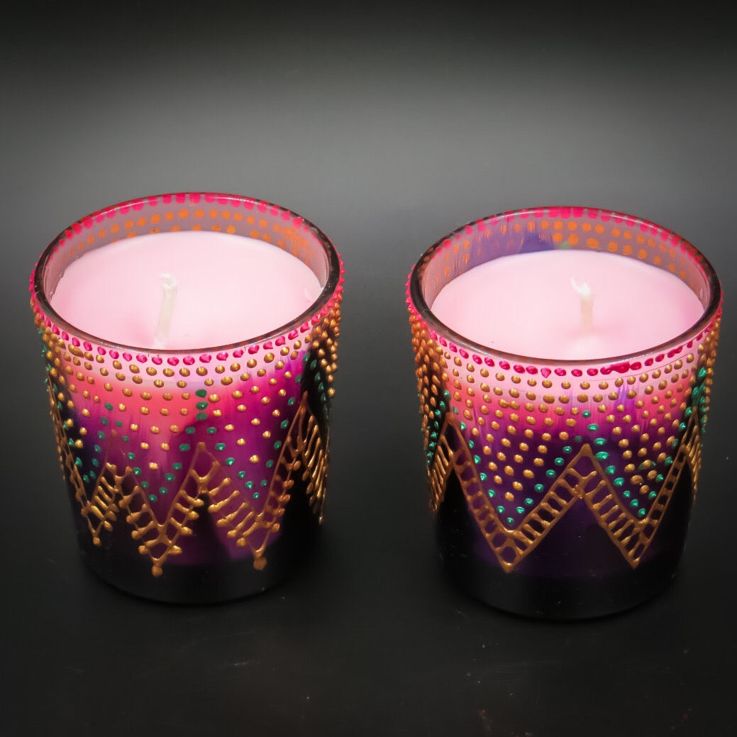 Rose Handmade Scented Candle-A | Set of 2 - Ankansala