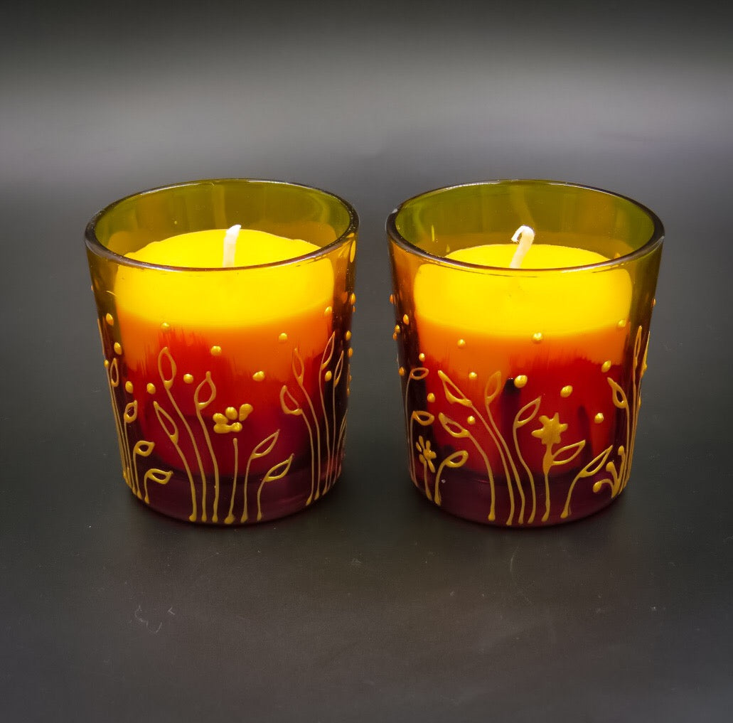 Rose Handmade Scented Soy Candle-E | Set of 2 - Ankansala
