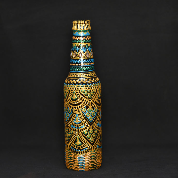 Beehive Hand Painted Decorative Bottle Vase - Ankansala