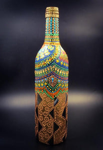 Gold Tent Hand Painted Decorative Bottle Vase - Ankansala
