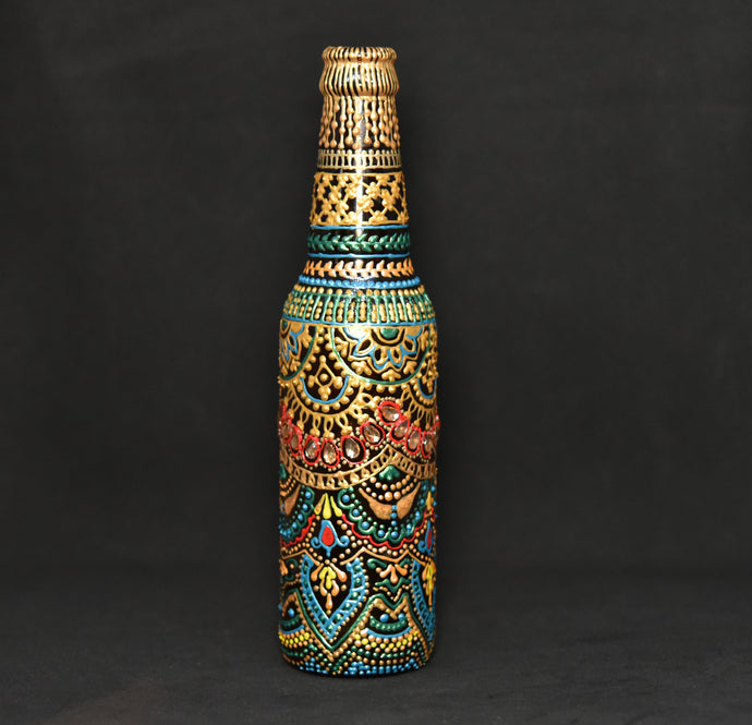 Ornamental Hand Painted Decorative Bottle - Ankansala