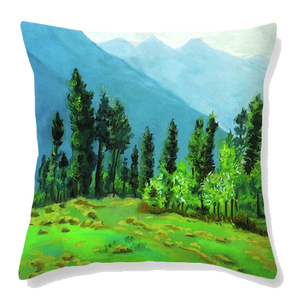 Blue Beauty  Velvet Cushion Cover - Ankansala