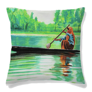 Green Beauty  Velvet Cushion Cover - Ankansala