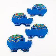 Blue Terracotta coasters set of - 4 - Ankansala