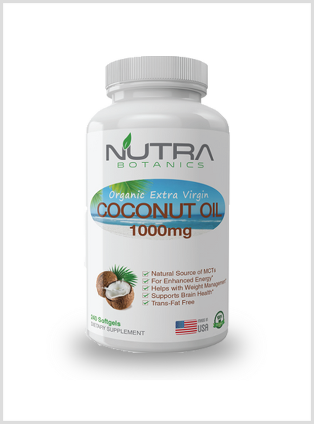 Organic Coconut Oil , 240 Softgels - NutraBotanics