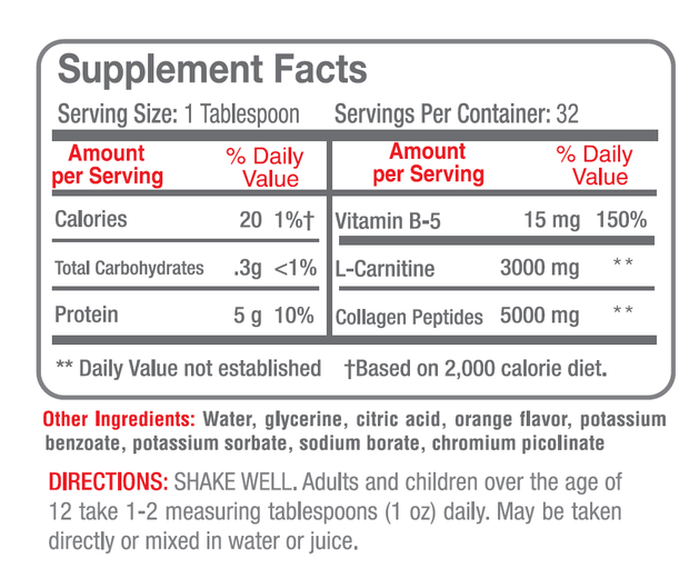 Liquid Carnitine 3000 mg Plus Protein - NutraBotanics