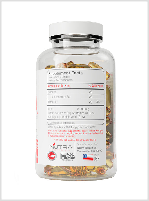 CLA 1000 mg 180 Softgels - NutraBotanics