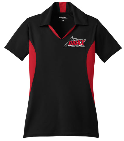 Women's Black/Red Staff Polo Shirt