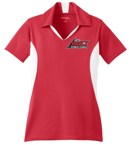 Women's Red/White Polo Staff Shirt