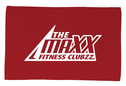 Red with White Maxx Workout Towel