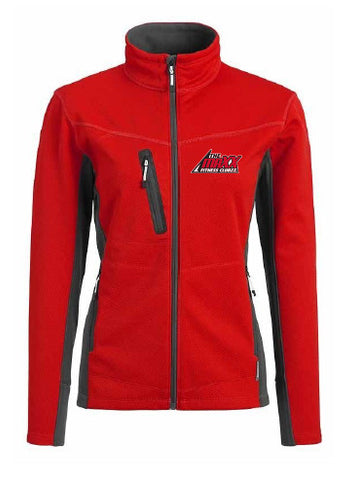 Women's Red and Grey Jacket
