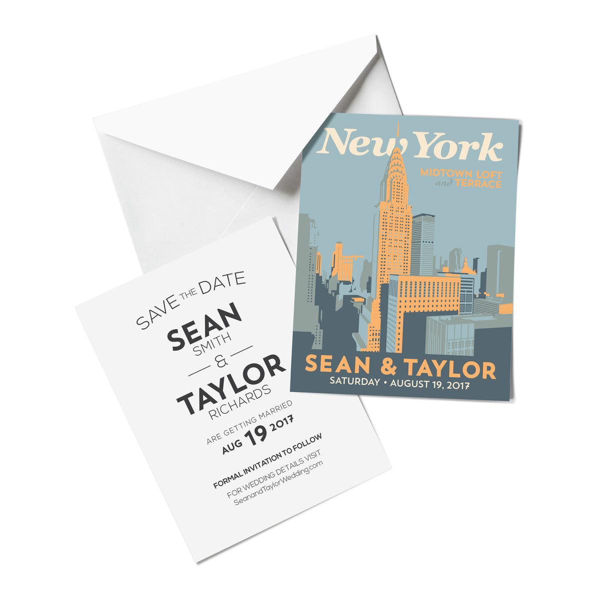 New York Downtown Save The Date