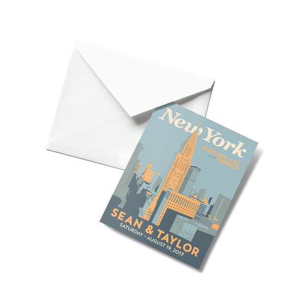 New York Downtown Thank You Cards