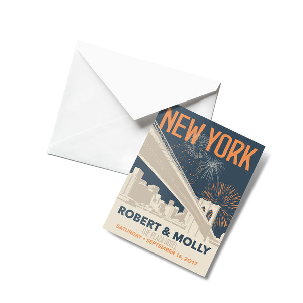 New York Skyline Thank You Cards