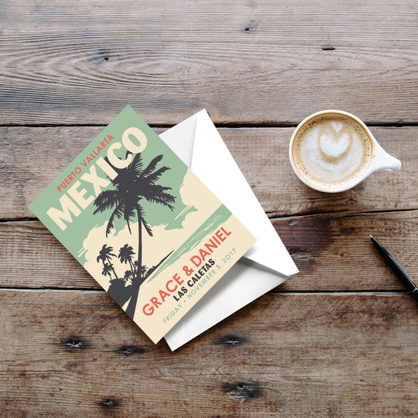Palm Trees Thank You Cards