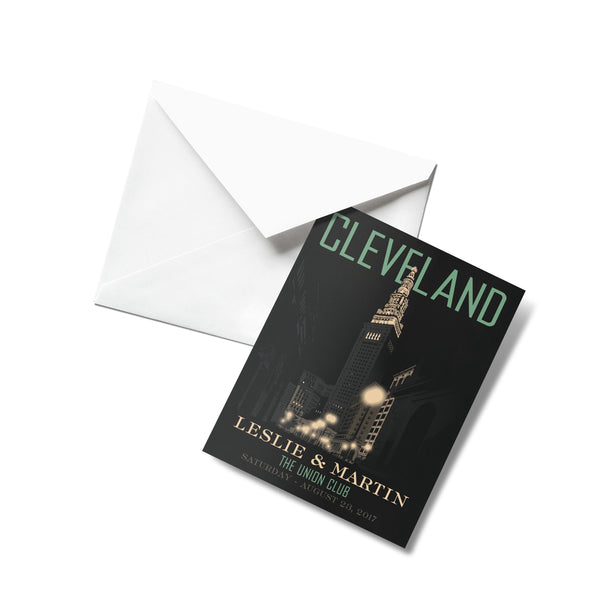 Cleveland Terminal Tower Thank You Cards