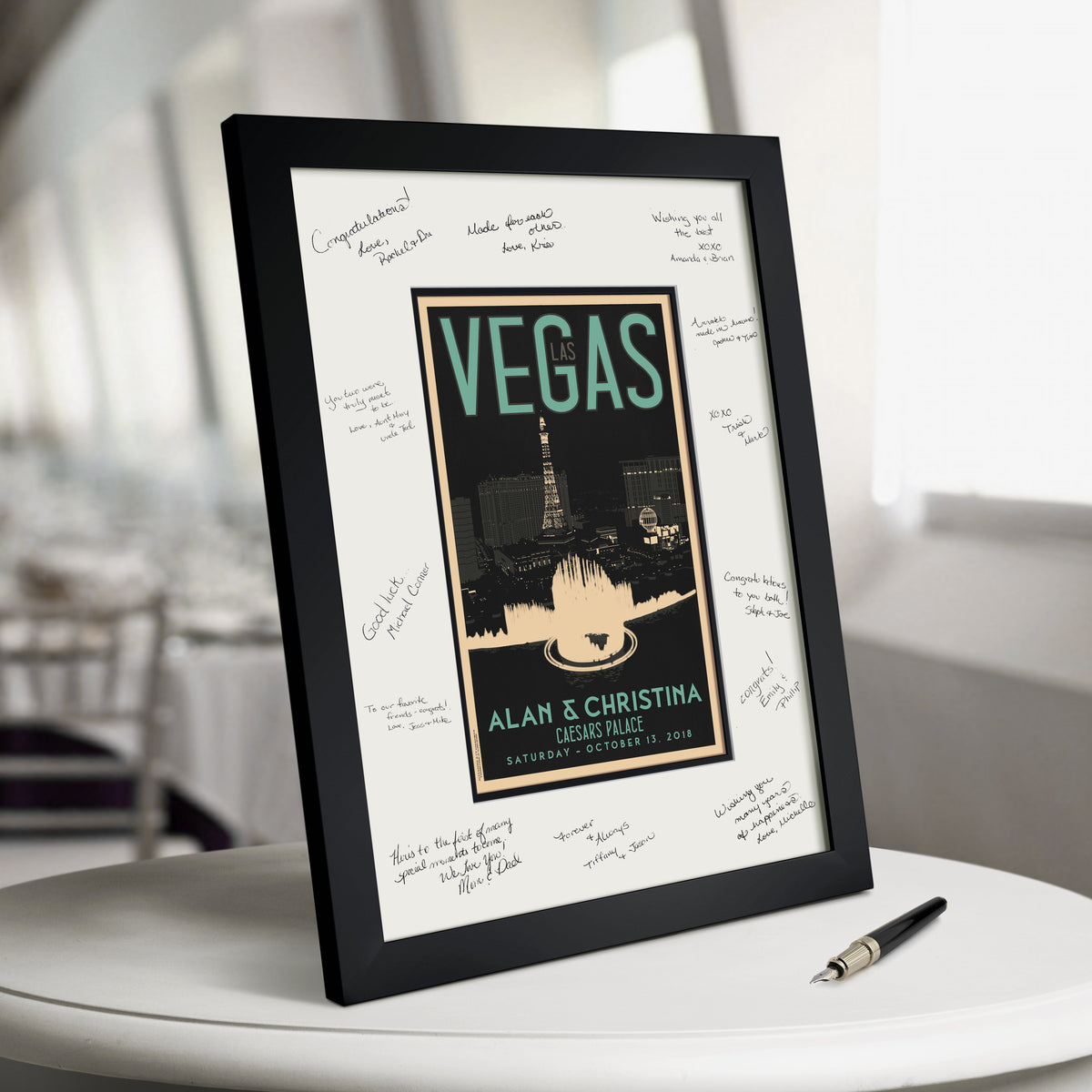 Las Vegas Fountain Guest Book