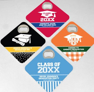 Graduation Bottle Opener Coaster - Set of 12 (FREE SHIPPING) - Something Sweet Party Favors LLC