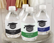 Graduation Cap Water Bottle Labels - Set of 25 (FREE SHIPPING) - Something Sweet Party Favors LLC