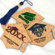 Graduation Cap Cork Coasters - Set of 12 (FREE SHIPPING) - Something Sweet Party Favors LLC