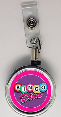 Bingo Diva Metal ID Retractable Badge Reel - Something Sweet Party Favors LLC