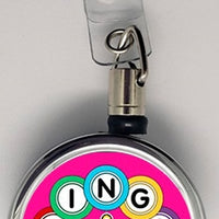 I Love Bingo Metal ID Retractable Badge Reel - Something Sweet Party Favors LLC