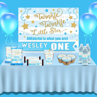 Twinkle Twinkle Boy Backdrop - FREE SHIPPING - Something Sweet Party Favors LLC