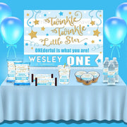 Twinkle Twinkle Little Star Boy Birthday Backdrop - FREE SHIPPING - Something Sweet Party Favors LLC