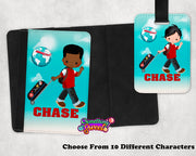 Boys Passport Cover and Luggage Tag - Something Sweet Party Favors LLC