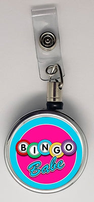 Bingo Babe Metal ID Retractable Badge Reel - Something Sweet Party Favors LLC