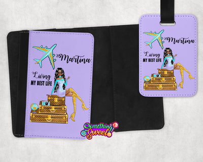 Personalized Passport Cover and Luggage Tag - Something Sweet Party Favors LLC