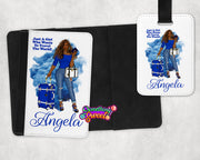 Personalized Passport Cover and Luggage Tag (Smoke) - Something Sweet Party Favors LLC